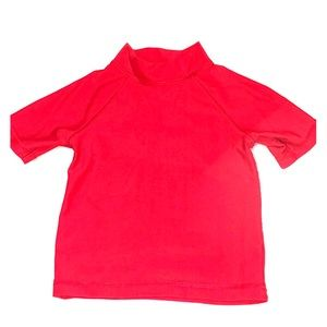 ❤️ Baby boy red swim shirt shirt sleeve rash guard